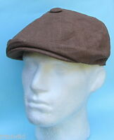 Flat Cap Baker Boy Gatsby Brown Linen Summer