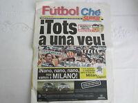 2000-1 VALENCIA CF v LEEDS UNITED CHAMPIONS LEAGUE OFFICIAL FUTBOL CHE ISSUE