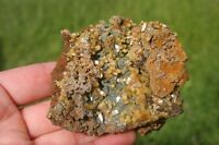 Yellow Cubic Wulfenite Crystals And Green Mimetite Balls On A Red Gossan Matrix