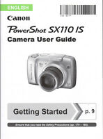 Canon Powershot SX110 IS Digital Camera Instruction Manual