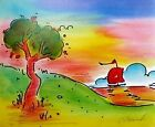 Stunning Quiet Lake III, Ltd Ed Lithograph, Peter Max - SIGNED with COA