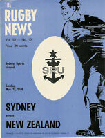 NEW ZEALAND ALL BLACKS TOUR 1974 v SYDNEY RUGBY PROGRAMME
