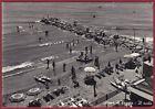 IMPERIA TAGGIA 15 ARMA DI TAGGIA - SPIAGGIA BAGNI Cartolina FOTOGR. viagg. 1955