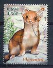 FRANCE 2001, timbre 3384, ANIMAUX, HERMINE, oblitéré