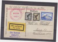 GERMANY  -ZEPPELIN  ROUND TRIP LZ 127 7 MARK CARD RATE SIEGER 30D MINT