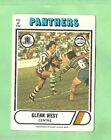 1976 SCANLENS RUGBY LEAGUE CARD #122. GLENN WEST, PENRITH PANTHERS