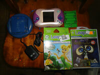 LeapFrog Leapster2 Learning Game System Pink W/ Recharging System,2 Games Faries