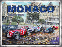 MONACO GRAND PRIX 1956 RACE CLASSIC VINTAGE STYLE POSTER METAL WALL GARAGE SIGN