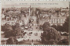 CPA 76 Le Havre Jardin de L'Hôtel de Ville et Rue de Paris animée 1927