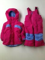 Baby Girl Talbots Kids Winter Snow Suit Pants Coat Set Pink Size 18 Months