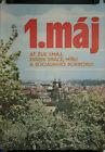 Affiche 1. Maj par Hruzova 1er mai fête travail socialisme tchèque politique