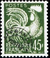 """FRANCE PREOBLITERE TIMBRE STAMP N°117 """"TYPE COQ GAULOIS 45F """" NEUF x TB"""
