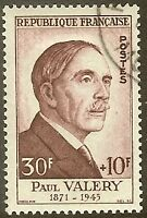 "FRANCE TIMBRE STAMP N°994 ""PAUL VALERY 30F+10F"" OBLITERE TB"