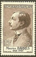 """FRANCE TIMBRE STAMP N°1070 """"ECRIVAIN MAURICE BARRES"""" OBLITERE TB"""