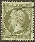 "FRANCE STAMP TIMBRE N° 19 "" NAPOLEON III 1c OLIVE DENTELE 1862 "" OBLITERE TB"