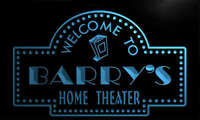 ph1771-b Barry's Home Theater Popcorn Bar Beer Neon Light Sign