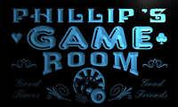 PL087-b Phillip's Game Room Boy Man Bar Light Neon Beer Sign