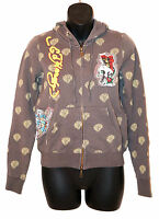 Women's ED HARDY HOODIE Christian Audigier BUTTERFLY SKULL TIGER Sweater Shirt