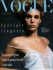 Speciale Lingerie allegato al 449 di Vogue Italia del Agosto 1987