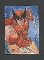 Marvel Premier 1/1 Upper Deck Wolverine Sketch Booklet Mauro Fodra X-Men 2012