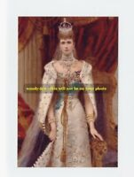 mm324-Queen Alexandra in Coronation robes-wife King Edward VII-Royalty photo 6x4