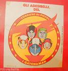 Adesivo sticker vintage GATCHAMAN del corriere dei piccoli DA STIRO adesibelli