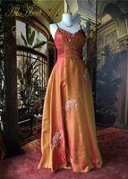 EDWARDIAN/Deco Theme Beaded SATIN Dress 8/10 Downton Abbey/Gosford Park