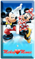 Mickey Mouse Minnie Kissing Single Light Switch Wall Plate