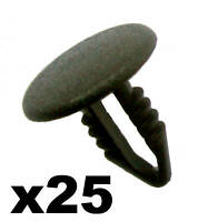 25x Push Fit Trim Panel Clips- 3-5mm Hole- 14mm Head