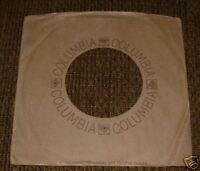 COLUMBIA RECORDS round-logo PAPER SLEEVE tan/brown Jacket Cover for Records♫EXC