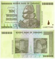 BUNDLE OF 100 - 10 TRILLION $ ZIMBABWE NOTES BILLS MONEY