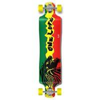 Rasta 2 graphics Lowrider Drop down through Longboard Complete skateboard cruise