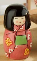 S&P Kokeshi Doll Cruet Novelty Salt & Pepper Set 12263