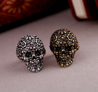 Wholesale GOTH Skull Death's Head Finger Rings Gothic Punk Silver/Bronze an292