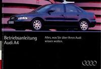 AUDI   A4   B5    Betriebsanleitung   Bordbuch   1994   Bedienungsanleitung   BA