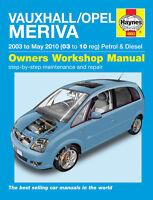 Haynes Manual De Taller Opel Meriva 03 a 10