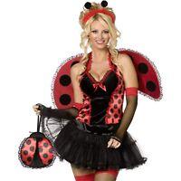 Sexy Lady Bird Bug Fancy Dress Costume Hen Night Womens Size 12-14