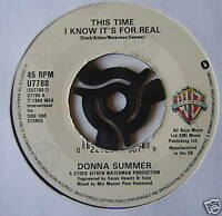 DONNA SUMMER - This Time I Know It's For Real - Ex 7""