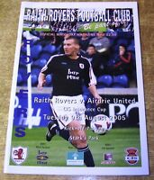 2005/06 LEAGUE CUP 1ST ROUND - RAITH ROVERS v AIRDRIE UNITED