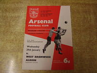 1963/64 FA CUP 4TH ROUND REPLAY - ARSENAL v WEST BROMWICH ALBION