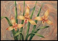 """* 36""""x24"""" Oil Painting on Canvas, Flower Display"""