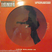 """THUNDER ~ Love Walked In ~ LIMITED EDITION 12"""" Single PICTURE DISC"""