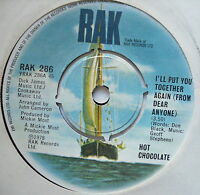 HOT CHOCOLATE - I'll Put You Together Again - Ex Con 7""