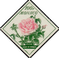 "MONACO STAMP TIMBRE N° 522 "" FLEURS ROSE GRACE DE MONACO 100 F"" NEUF x TB"