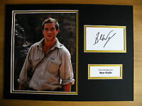 BEAR GRYLLS GENUINE HAND SIGNED AUTOGRAPH 16X12 PHOTO MOUNT SCOUTS MAN WILD COA