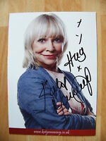 KATY MANNING HAND SIGNED AUTOGRAPH OFFICIAL PHOTO CARD DOCTOR DR WHO JO GRANT