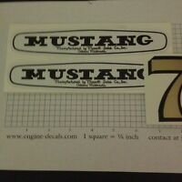 Mustang Mower Mowett Sales Co Decal Set For 7hp Rider