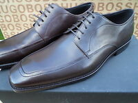 NEW HUGO BOSS BLACK LABEL BROWN LEATHER MENS SMART RUBEN BOOTS SHOES 8 9 43 44