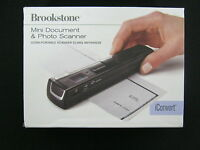 Brookstone Ultra Portable Mini Document and Photo Scanner iConvert BLACK