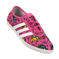 adidas Originals X Jeremy Scott P Sole Pink Print Summer Plimsole Trainers RARE!